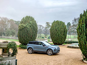 Hintergrundbilder Land Rover Softroader Graue Metallisch 2019 Evoque R-Dynamic First Edition Worldwide auto