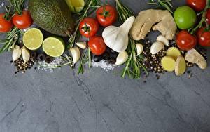 Bilder Tomate Knoblauch Avocado Limette Gewürze
