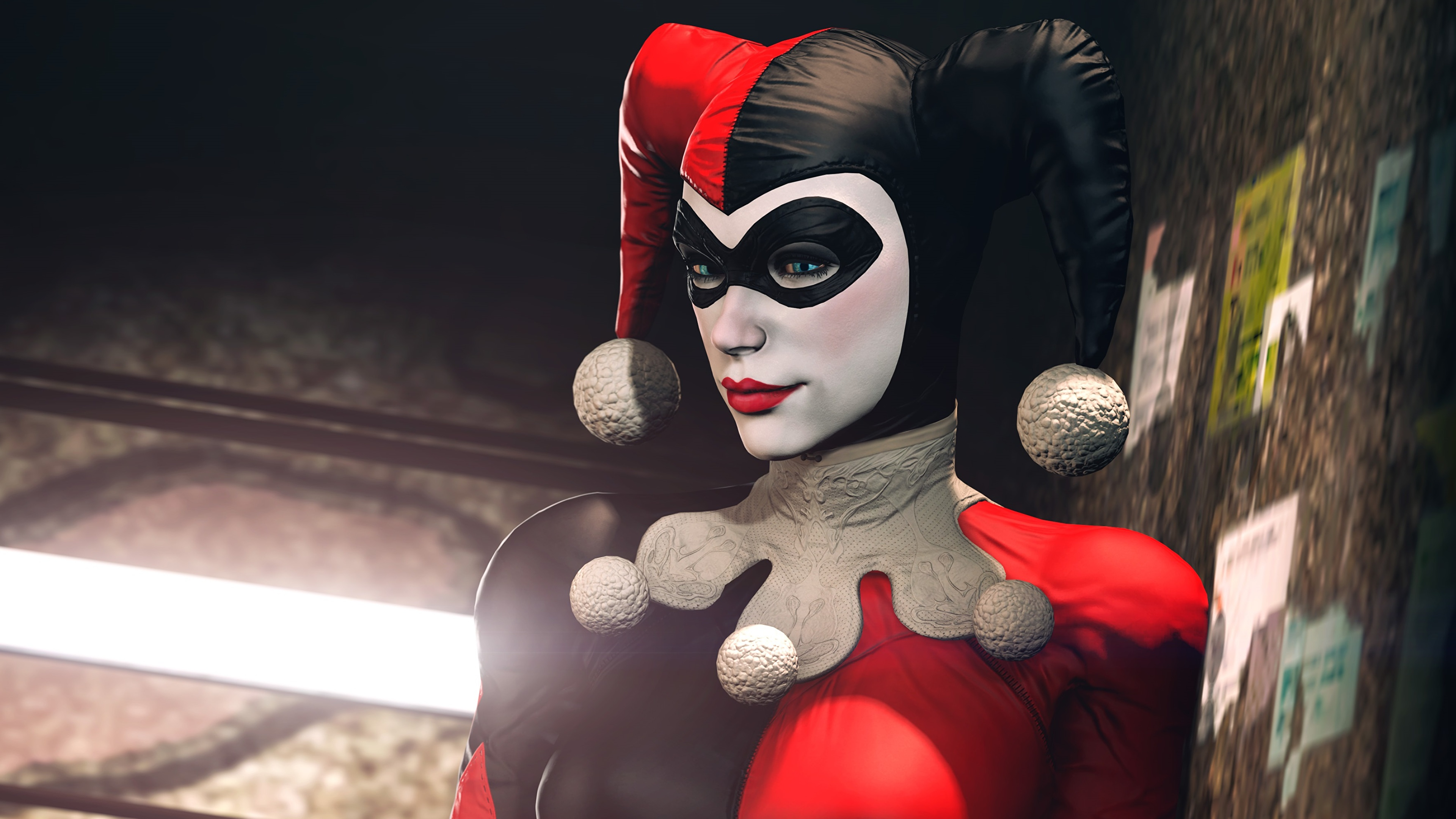 Desktop Wallpapers Batman Latex Harley Quinn Hero 3d 3840x2160