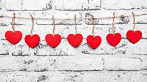Papéis de parede Dia dos Namorados Muro Coração Vermelho