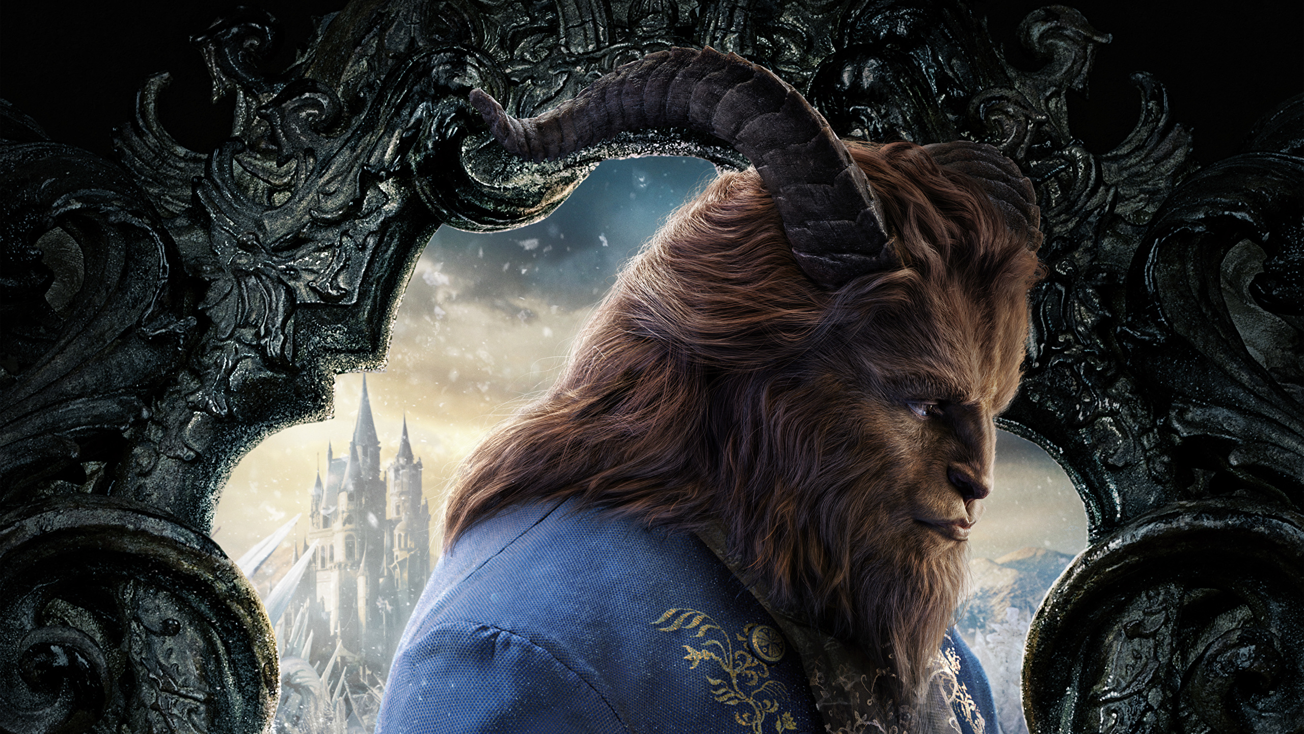 Images Beauty And The Beast 2017 Monsters Horns Movies 2560x1440