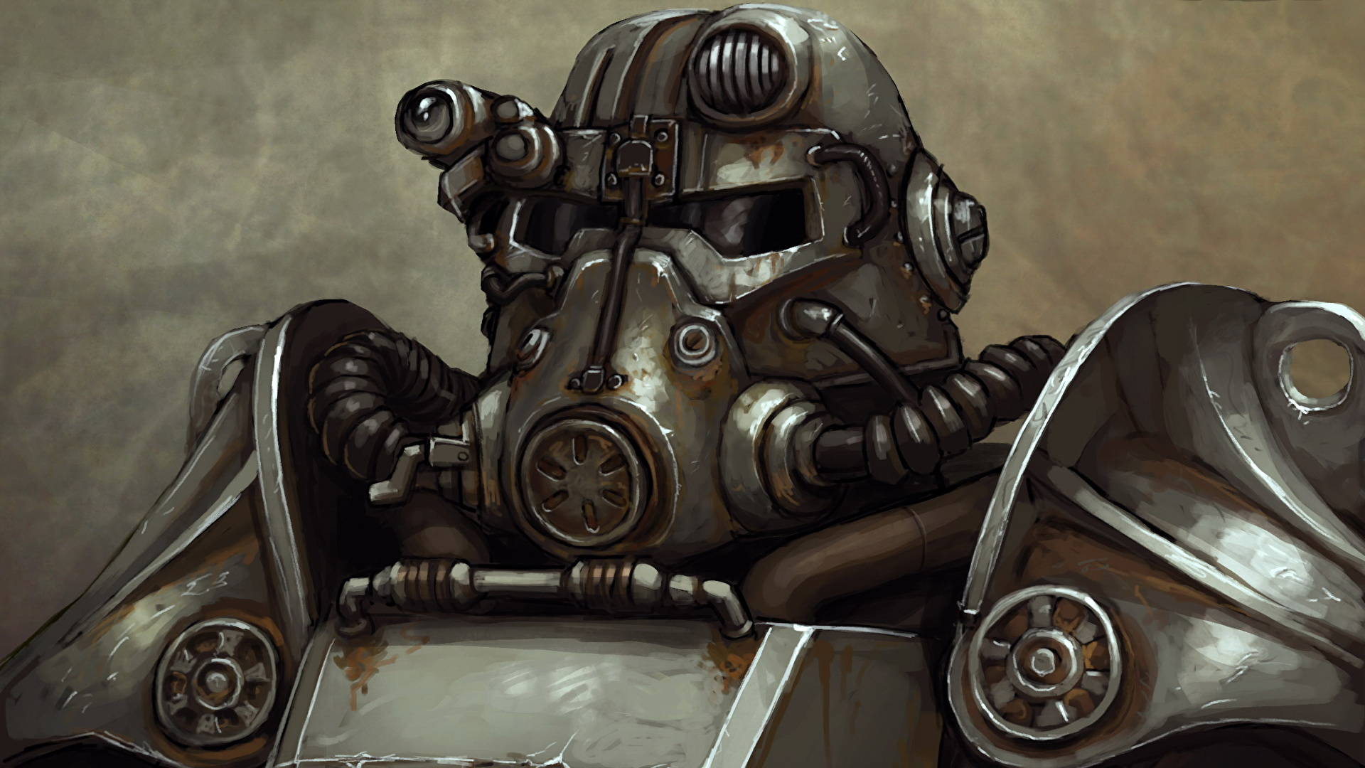 Pictures Fallout Armour Helmet Warriors Brotherhood Of 1920x1080