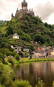 Bilder Cochem Deutschland Haus Fluss Burg Städte