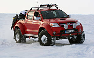 Bilder Toyota Pick-up Rot Metallisch 2007 Arctic Trucks Hilux Invincible AT38