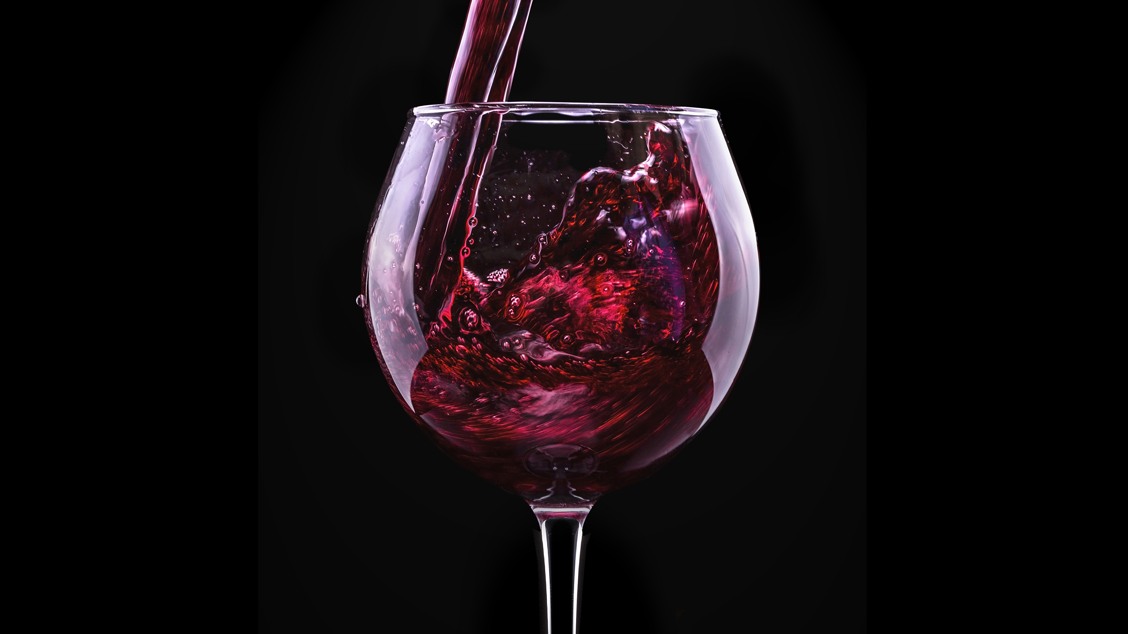 Desktop Wallpapers Red Rose Wine Flower Food Stemware 3840x2160
