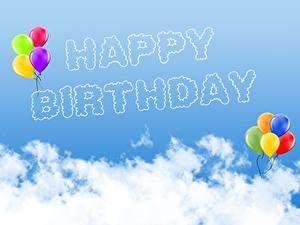 Papéis de parede Aniversário Céu Nuvem Balão Inglês