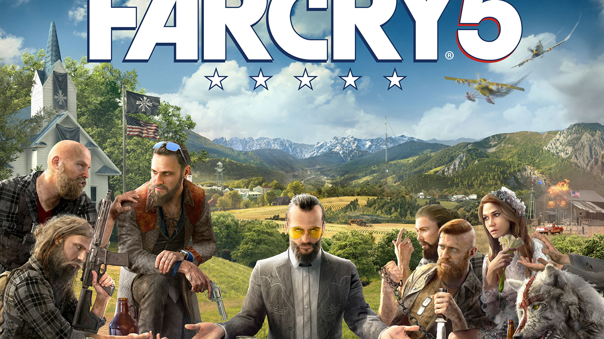 Picture Far Cry Men 5 Flag Games Table 1920x1080