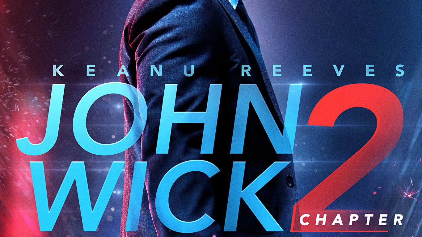 Picture John Wick Chapter 2 Keanu Reeves Pistols Man 1366x768