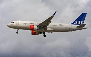 Fotos Verkehrsflugzeug Boeing Seitlich A320-200N Scandinavian Ireland