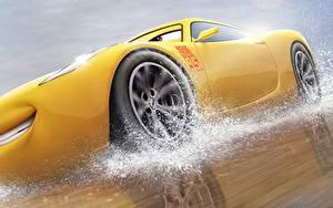 Fonds d'écran Cars 3 Jaune Cruz Ramirez