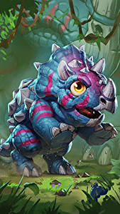 Fotos Hearthstone: Heroes of Warcraft Dinosaurier Jungtiere Direhorn Hatchling Spiele
