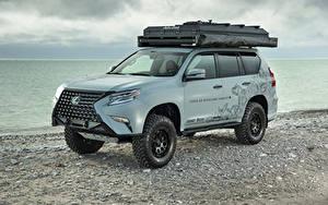 Hintergrundbilder Lexus Fahrzeugtuning Graue 2020 GX Overland Concept auto