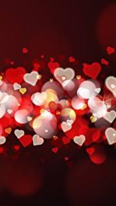 Papéis de parede Dia dos Namorados Muitas Coração