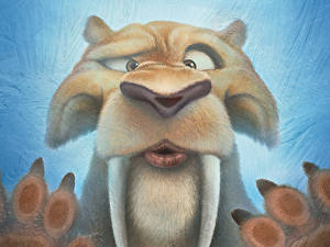 Photo Canine tooth fangs Ice Age: Collision Course Snout Funny Diego Smilodon