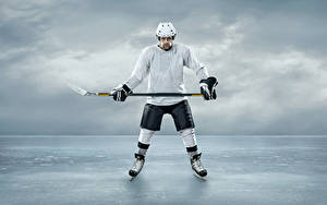 Picture Hockey Man Ice Helmet Uniform sports