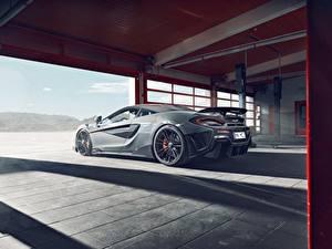 Papéis de parede McLaren Cinza Garagem Novitec 600LT Carros
