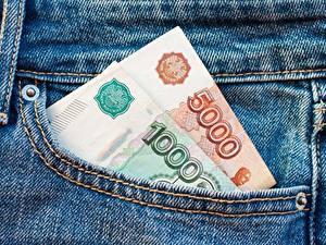 Hintergrundbilder Geld Rubel Banknoten Jeans 5000 1000