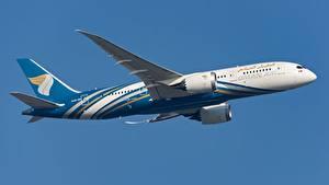 Hintergrundbilder Flugzeuge Verkehrsflugzeug Boeing Seitlich Oman Air, 787-8
