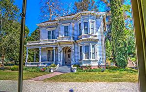 Fotos USA Retro Haus Kalifornien Design HDR Heritage Square Museum Städte