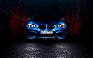 Bureaubladachtergronden BMW Vooraanzicht Blauw kleur Coupé F87 Auto