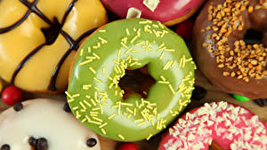 Bilder Backware Donut Nahaufnahme Zuckerguss