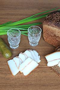 Bilder Brot Gurke Wodka Salo - Lebensmittel Dubbeglas Lebensmittel