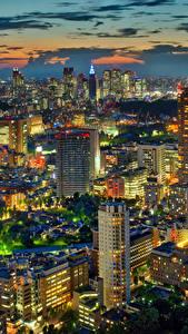 Hintergrundbilder Japan Präfektur Tokio Haus Wolkenkratzer Megalopolis Nacht Städte