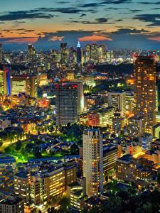 Hintergrundbilder Japan Präfektur Tokio Haus Wolkenkratzer Megalopolis Nacht
