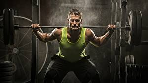 Wallpapers Men Bodybuilding Sleeveless shirt Barbell Sport