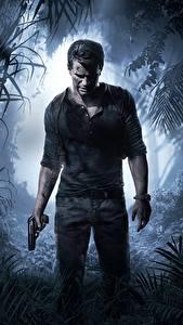 Hintergrundbilder Uncharted 4: A Thief's End Mann Pistolen Spiele