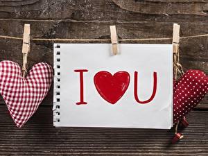 Papéis de parede Dia dos Namorados Coração Prendedor de roupas