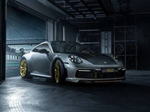 Hintergrundbilder Porsche Graue 911 Carrera TechArt 992 2019 Autos