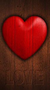 Hintergrundbilder Valentinstag Großansicht Bretter Englisch Herz