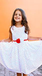 Fonds d'écran Petites filles Sourire Les robes Enfants