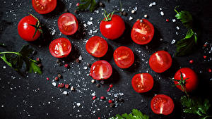 Pictures Tomatoes Salt Food