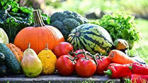 Images Vegetables Pears Watermelons Tomatoes Pumpkin Pepper