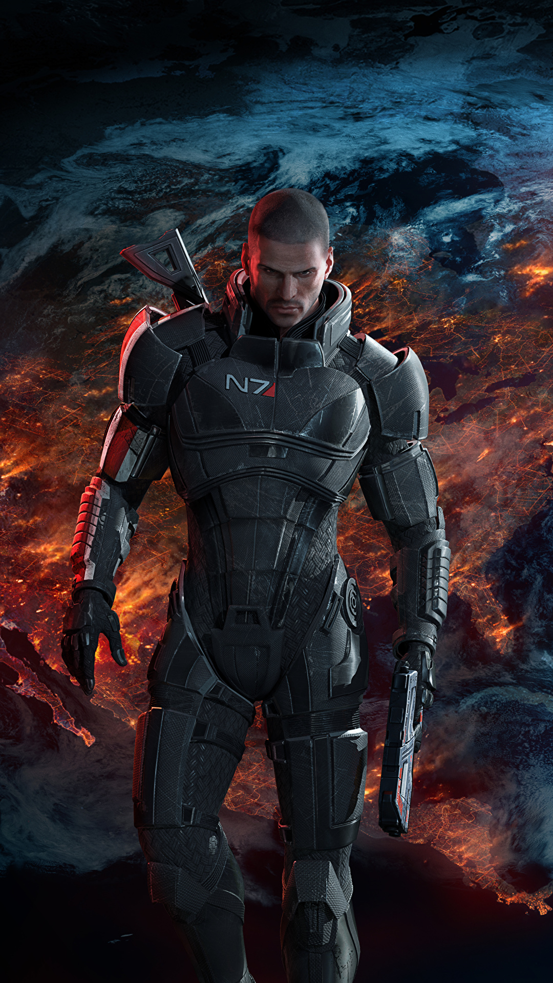 Image Shepard Mass Effect 3 Armor Pistols Man Fantasy Vdeo