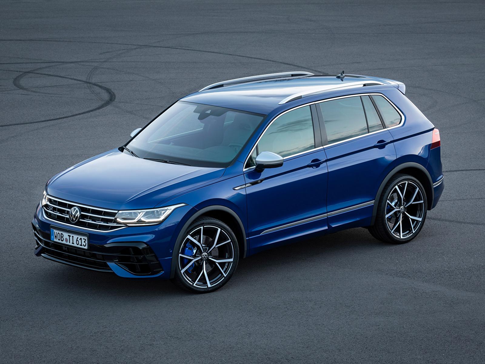 Fotos von Volkswagen Tiguan R, 2020 Blau Autos Metallisch 1600x1200 auto automobil