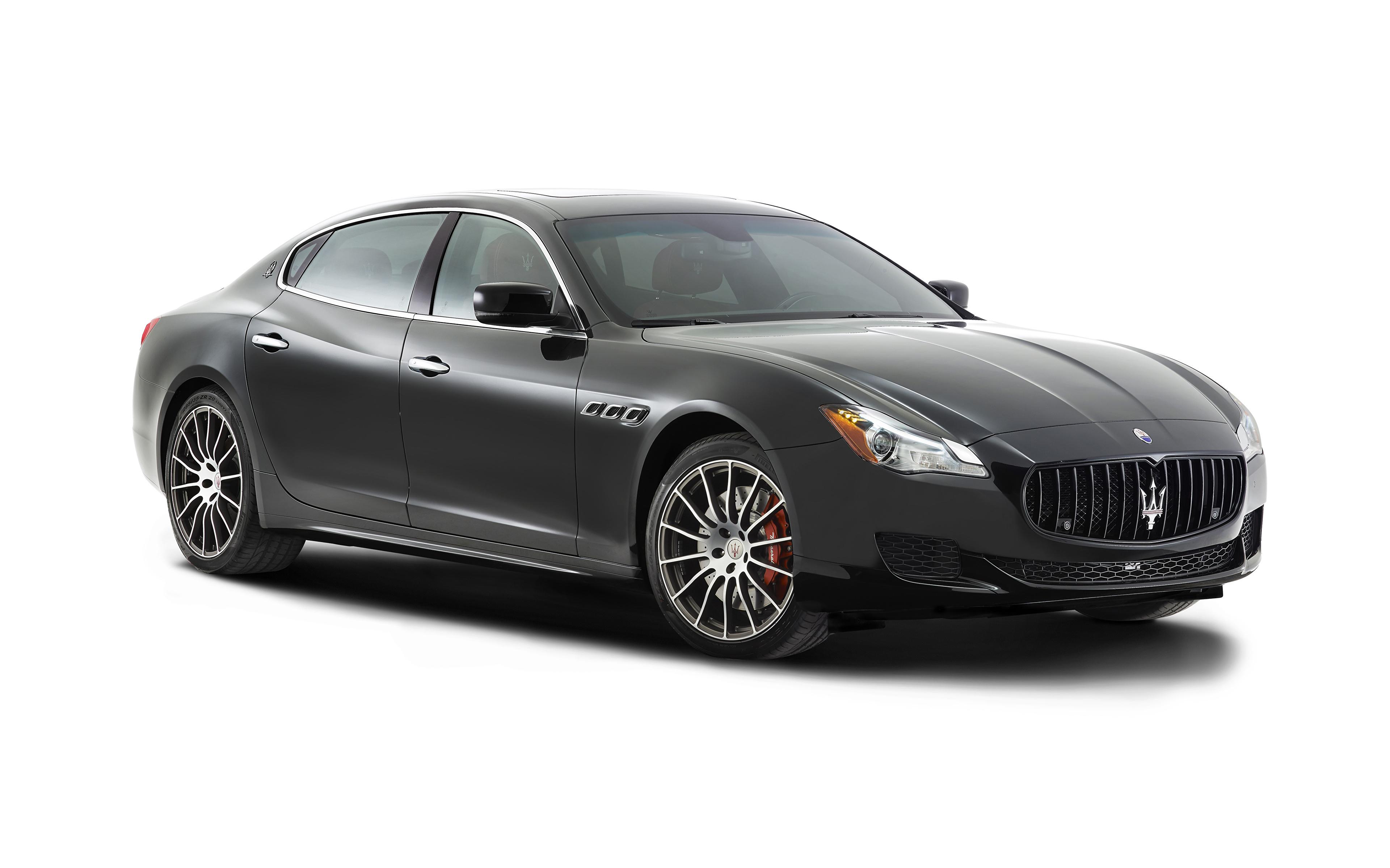 Image Maserati 2014 Quattroporte Gts Black Automobile 3840x2400