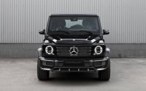 Hintergrundbilder Mercedes-Benz G-Modell Schwarz Metallisch Vorne G 350 d Light Package, Br.463, 2020 auto