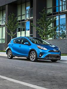 Hintergrundbilder Toyota Hellblau Metallisch 2018 Prius C Autos