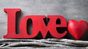 Papéis de parede Dia dos Namorados Ingleses Coração