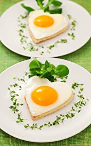 Fotos Gemüse Teller Spiegelei 2 Herz Design das Essen