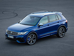 Bureaubladachtergronden Volkswagen Blauw kleur Metallic Tiguan R, 2020