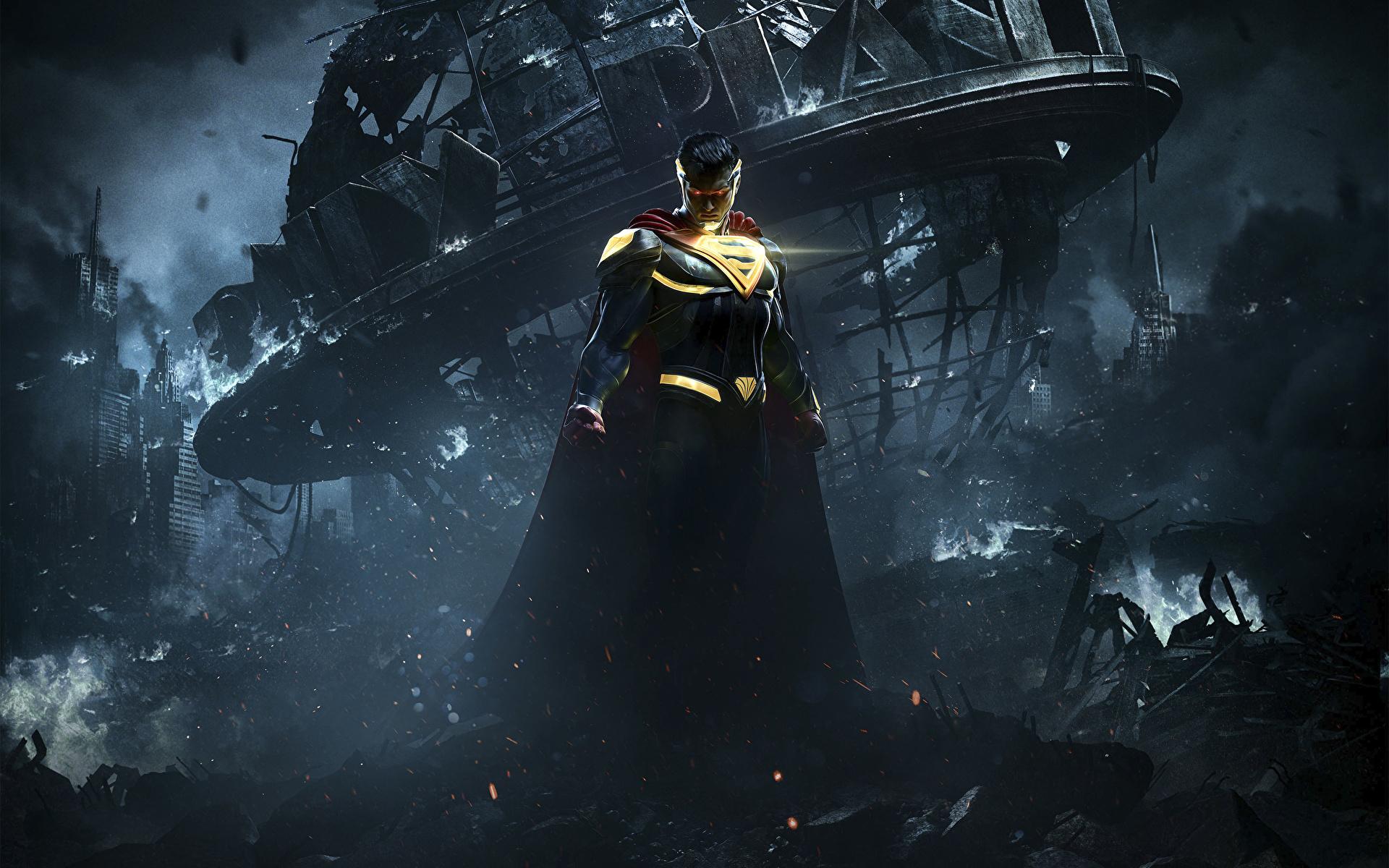 1920x1200 Héros de bande dessinée Superman Héros Injustice 2 Nuit jeu vidéo, super héros Jeux