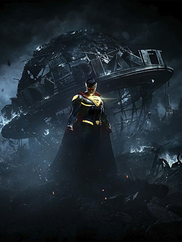 600x800 Héros de bande dessinée Superman Héros Injustice 2 Nuit jeu vidéo, super héros Jeux pour Téléphone mobile