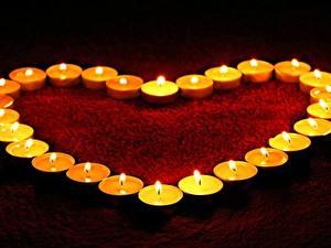 Papéis de parede Velas Dia dos Namorados Coração