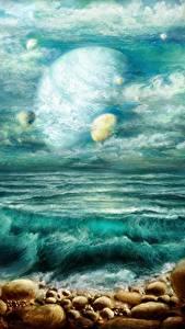 Bilder Küste Planeten Fantasy