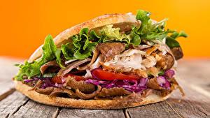 Bilder Fast food Sandwich Gemüse Bretter Lebensmittel
