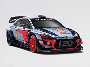 Fotos Hyundai Tuning Grauer Hintergrund 2018 i20 Coupe WRC Autos